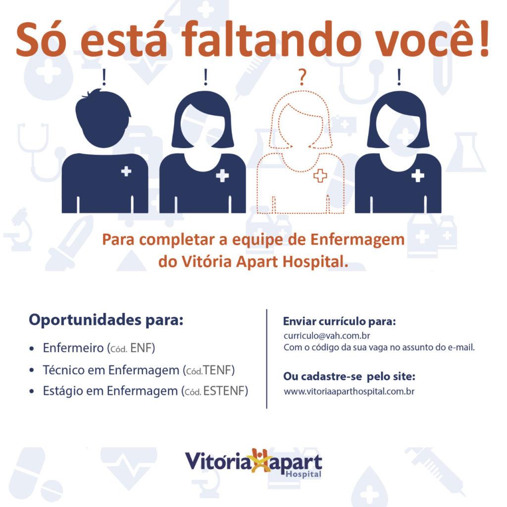 Oportunidade Vitória Apart Hospital, Serra. – Conselho Regional de  Enfermagem do Espírito Santo